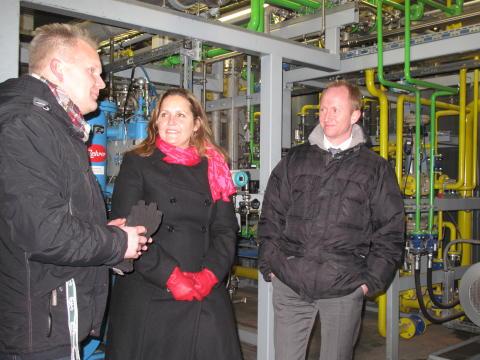 Handels- og investeringsminister Pia Olsen Dyhr besøger E.ON Nordic i Malmø