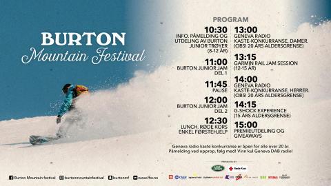 Burton Mountain Festival, Geilo lørdag 18 februar!