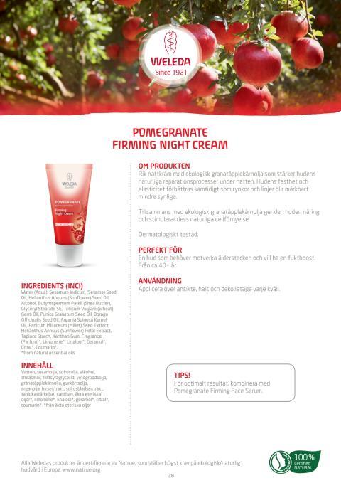 Pomegranate Firming Night Cream