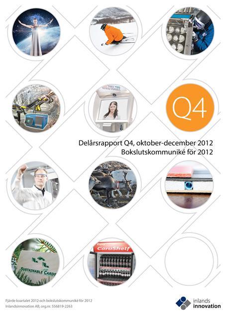 Bokslutskommuniké 2012 från Inlandsinnovation