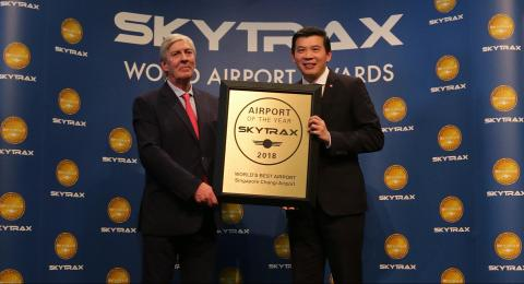 Changi Airport is named the world's best airport for the sixth consecutive year by international air travellers