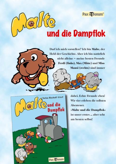 """Pax et Bonum Verlag Berlin Leseprobe Buch:""""Malte und die Dampflok"""""""