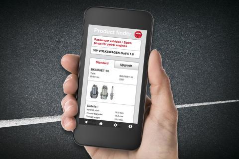 """NGK lanserer ny APP - """"NGK Product Finder"""" for smarttelefoner og lesebrett"""