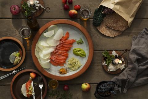 Julmiddag på Rosendals Trädgård - ett möte mellan hortikultur och gastronomi.