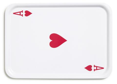 Tray ''Ace of Hearts'' by Daniel Carlsten