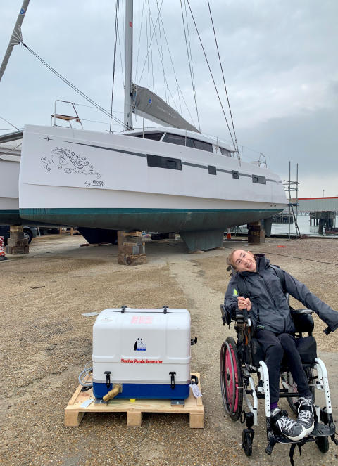 Hi-res image - Fischer Panda UK - Fischer Panda UK has donated a generator for Natasha Lambert's Atlantic crossing on 'Blown Away'