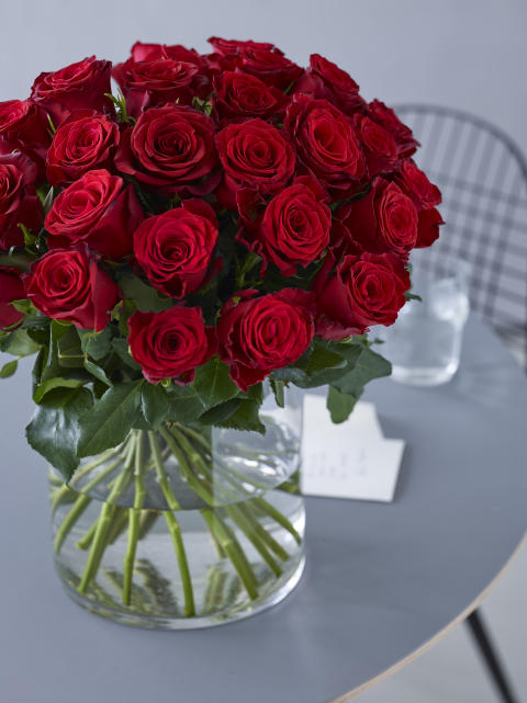 Røde roser til valentine