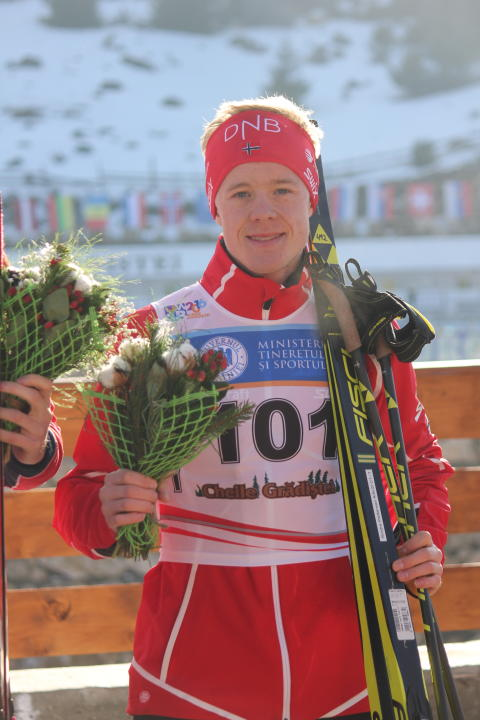 Sindre Pettersen, blomstersermoni, sprint menn junior, junior-vm 2016