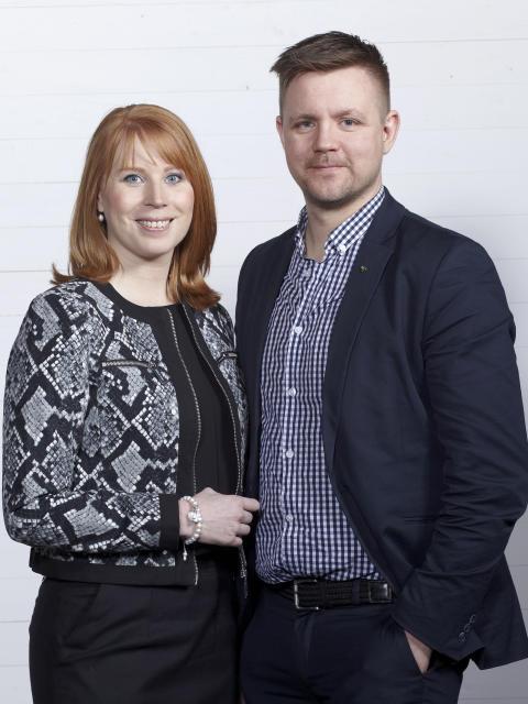 Annie Lööf och Fredrick Federley