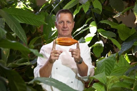Chokolatier Peter Beier på sin kakaoplantage nær Punta Cana.
