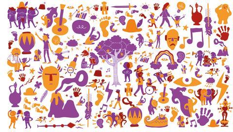 Fri illustration av utställningen Tillsammans