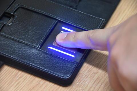 Taking a fingerprint