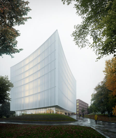 Förslag KUNSKAPENS FYR, arkitekttävling universitetsbiblioteket