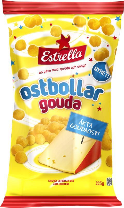 Estrella lanserar Sveriges goudaste ostbollar