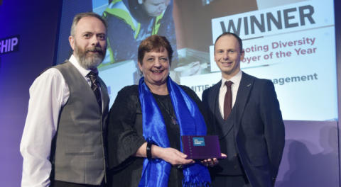 Mitie wins 'Promoting Diversity Employer of the Year' award at the Scottish Apprenticeship Awards