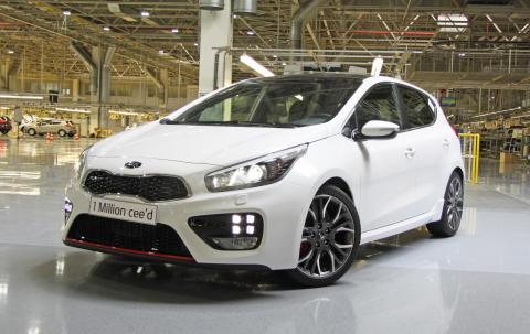 Kia cee'd nummer 1 million er produsert.