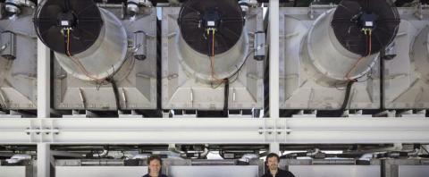 Världens första anläggning för att avlägsna CO2 från atmosfären