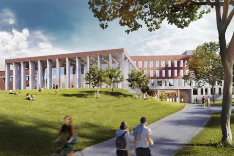 KUB arkitekter ritar nya Humanisten i Göteborg – med cykelbana rakt genom byggnaden!