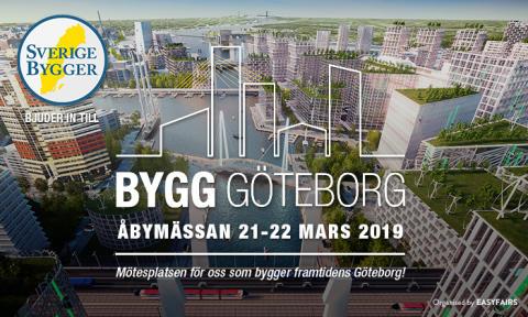 Inbjudan/biljett till BYGG GÖTEBORG, Åbymässan 21-22 mars.