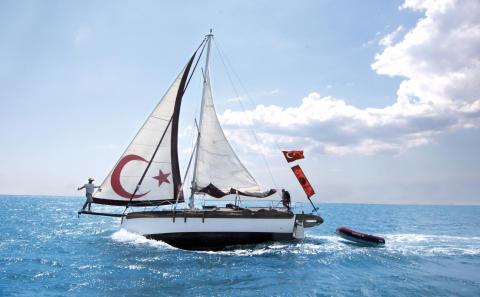 Hi-res image - Karpaz Gate Marina - Turkish solo sailor Özkan Gülkaynak