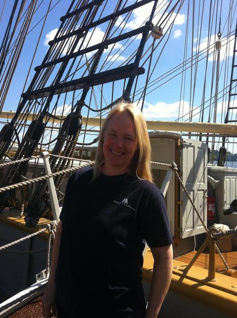 Initiativet Hållbara Hav välkomnar Annica Skoglund - ny intendent på briggen Tre Kronor af Stockholm