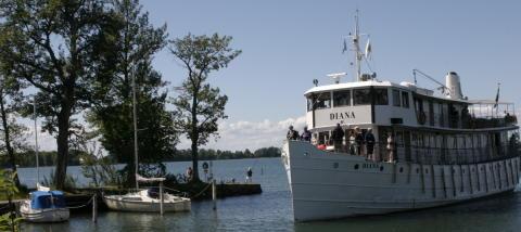 Göta Kanalbåten m/s Diana kulturminnesmärkt