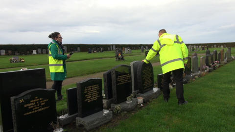 headstone inspection