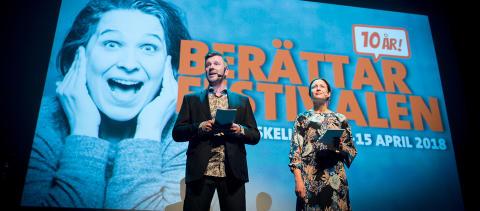 Bilder från invigning av Berättarfestivalen i Skellefteå