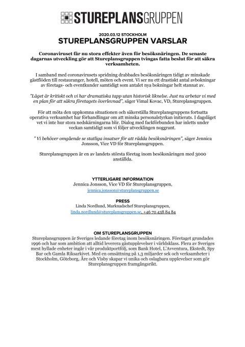 PRM - Stureplansgruppen, 20200312