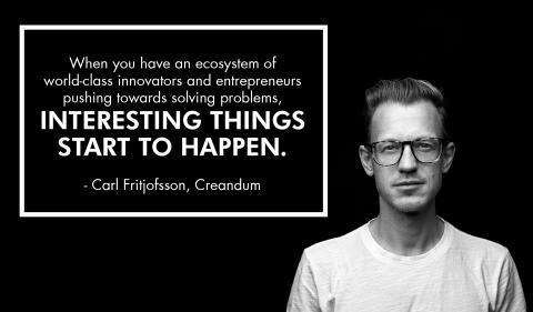 Quote by Carl Fritjofsson, partner at Creandum