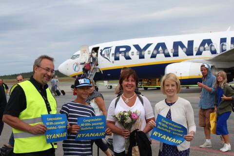 40 000 resenärer med Ryanair från Skellefteå Airport