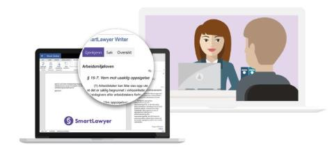Jobb smart med SmartLawyer Writer