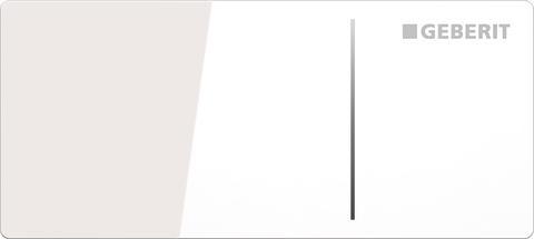 Geberit spolplatta Omega70 - vitt glas