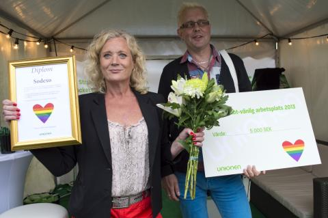 Unionens HBT-pris 2013 till Sodexo