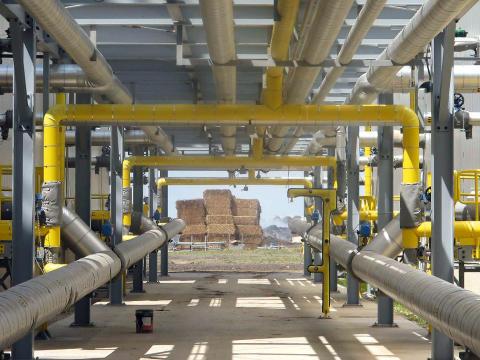 Poets nya etanolfabrik i Emmetsburg, Iowa, använder majshalm som råvara