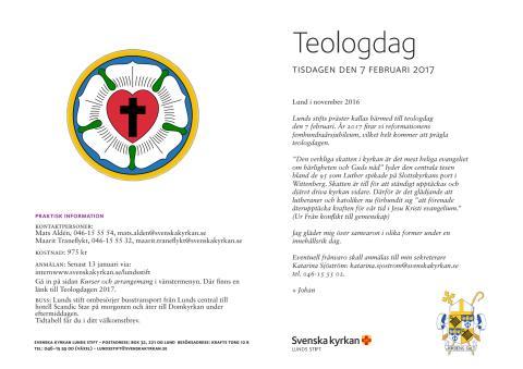 Program för teologdagen 2017