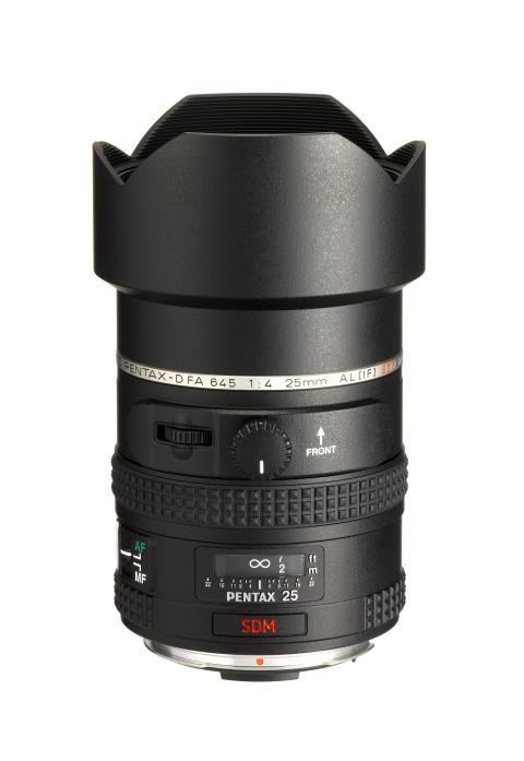 Pentax 645D objektiivi 25 mm laajakulma
