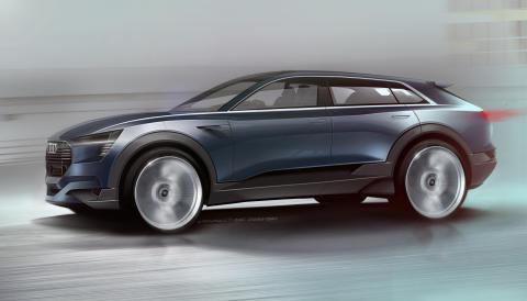 Audi visar kommande elbil i Frankfurt - Audi e-tron quattro concept