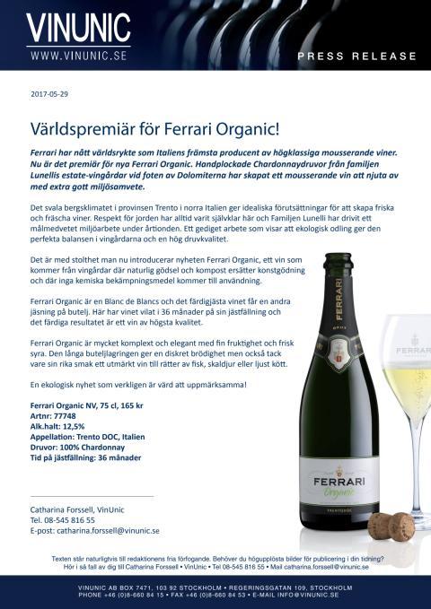 Världspremiär för Ferrari Organic