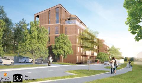 LW Projektutveckling utvecklar 48 hyresrätter i Tyresö och anlitar RO-Gruppen som entreprenör