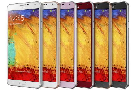 Galaxy Note 3 color options