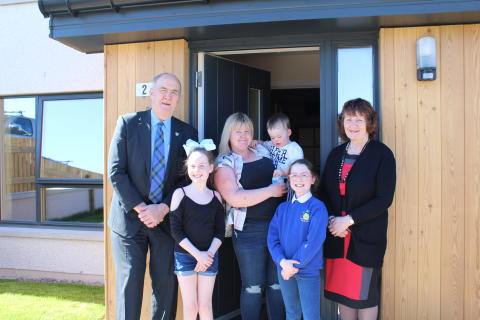 Cruickshank family settle in to one of Moray Council's newest homes