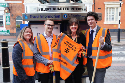 Jewellery Quarter BID becomes the first Business Improvement District in the UK to adopt a station