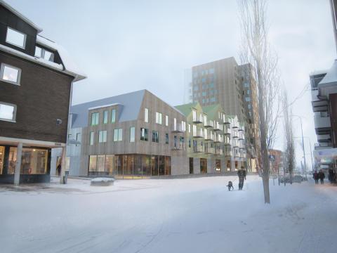 Förberedelser inför byggstart av Träkronan, Norrlands nya landmärke