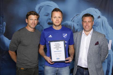 Magnus Arnersten, IFK Mariefred, tilldelas  Woody Ungdomsledarstipendiet 2016
