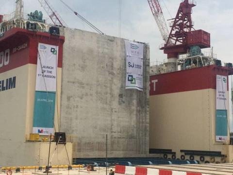 Launch of the 1st Caisson for Tuas Terminal Phase 1 Development