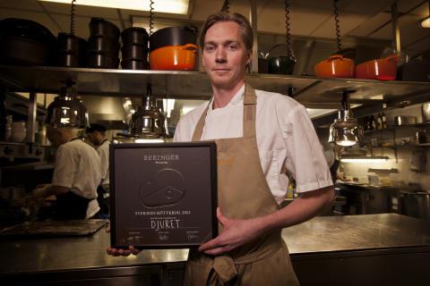 Köksmästare Mikael Einarsson på restaurang Djuret