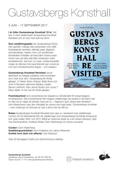 Gustavsbergs Konsthall Revisited – jubileumsutställning och bokrelease