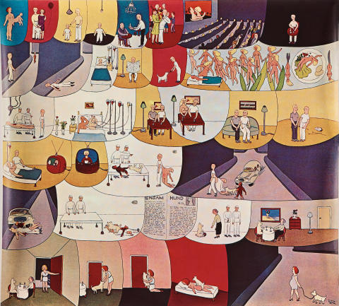 Marie-Louise Ekman, affisch, 1970-tal. Utrop: 3000 SEK