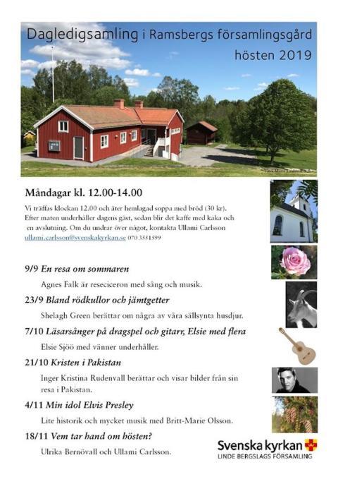 Linde bergslags församling: Dagledigsamling i Ramsberg